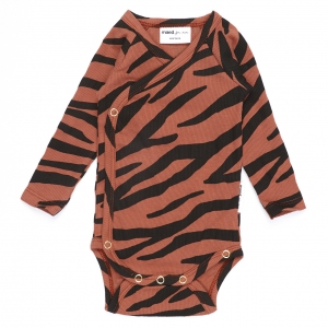 Blushing Zebra Newborn Overslagromoper van Maed For Mini
