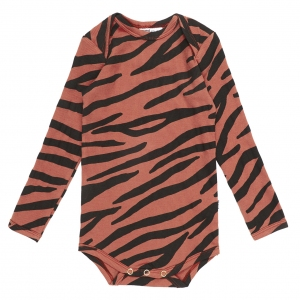 Blushing Zebra Romper van Maed For Mini