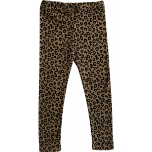 Brown Leopard Pants van Maed For Mini