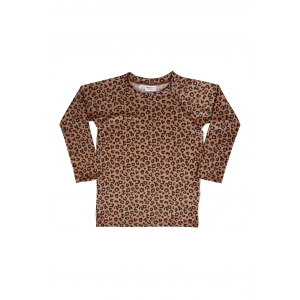 Brown Leopard Swimtop van Maed For Mini