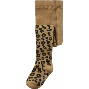 Brown Leopard Tights van Maed For Mini