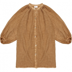 Caramel Capybara Blouse Dress van Maed For Mini