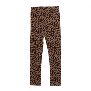 Leggings Chocolate Leopard Aop van Maed For Mini