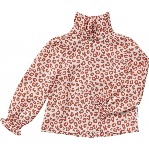 Red Leopard Aop Blouse van Maed For Mini