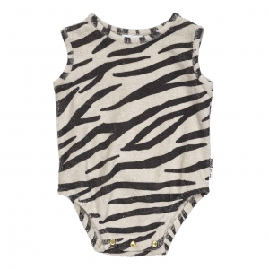 Smiling Zebra Bodysuit van Maed For Mini