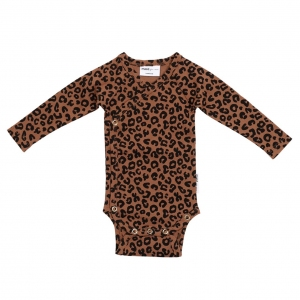 Wrap Body Chocolate Leopard Aop van Maed For Mini