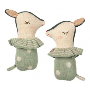 Bambi Rattle Dusty Mint van Maileg