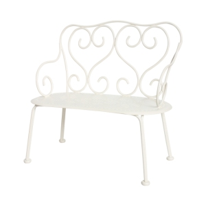 Romantic Bench White van Maileg