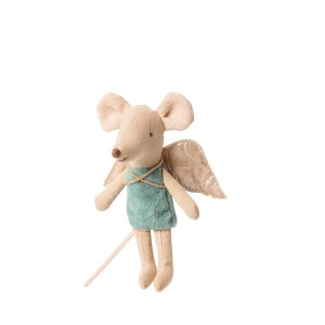 Fairy Mouse Little Sister - Blauw van Maileg