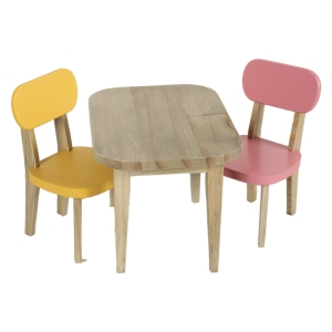 Wooden Table And 2 Chairs  van Maileg