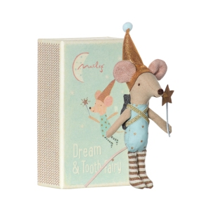 Mouse tooth fairy in box boy van Maileg