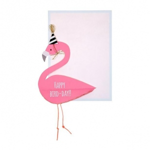 Flamingo Honeycomb Card van Meri Meri
