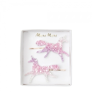 Glitter Unicorn Hair Slides  van Meri Meri