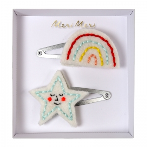 Rainbow & Star Hair Clips van Meri Meri