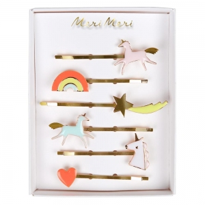 Unicorn Enamel Hair Slides van Meri Meri