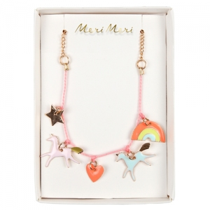 Unicorn Enamel Necklace van Meri Meri