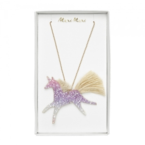 Unicorn Glittered Necklace  van Meri Meri