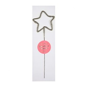 Wondercandle Star Small Zilver  van Meri Meri