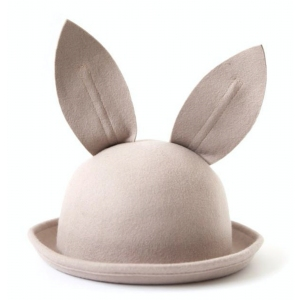 Bunny Wool Hat Beige van Mini Dressing
