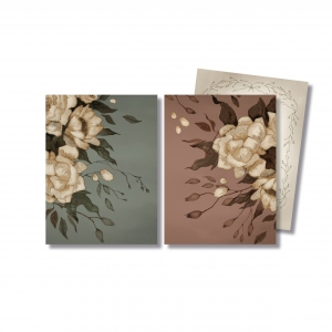 Cards Peonies 2 Pack van Mrs. Mighetto