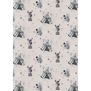 Circus Mighetto Powder Pink Wallpaper van Mrs. Mighetto