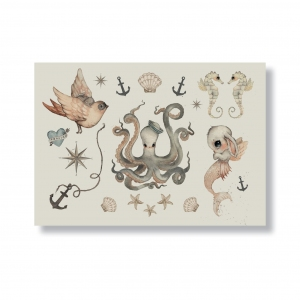 Temporary Tattoos Ocean Friends van Mrs. Mighetto