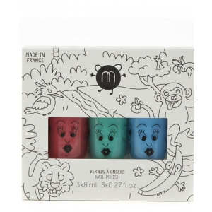 Nailmatic Kids Jungle-3 Pack Roze Groen Blauw van Nailmatic Kids