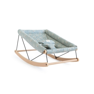 Growing Green Baby Bouncer-White Gatsby/ Antique Green van Nobodinoz