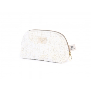 Holiday Vanity Case New Elements Gold Bubble White van Nobodinoz