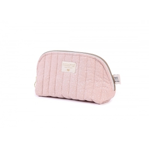 Holiday Vanity Case New Elements White Bubble Misty Pink van Nobodinoz