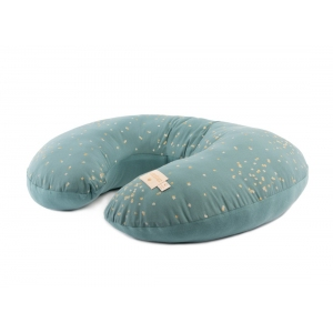 Nursing Pillow Sunrise Gold Confetti Magic Green van Nobodinoz