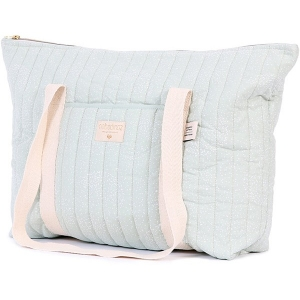 Paris Maternity Bag New Elements White Bubble Aqua van Nobodinoz