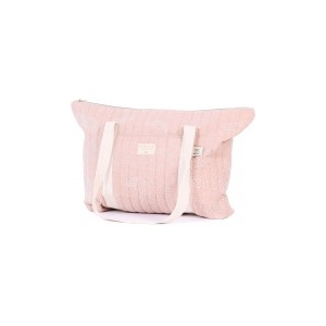 Paris Maternity Bag New Elements White Bubble Misty Pink van Nobodinoz