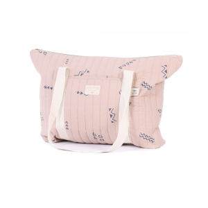 Paris Maternity Bag New Elements Blue Secrets Misty Pink van Nobodinoz