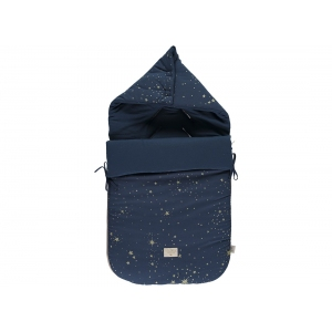 Passegiata Foot Muff New Elements Gold Stella Night Blue van Nobodinoz