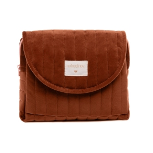 Savanna Velvet Maternity Case Wild Brown van Nobodinoz