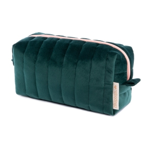Savanna Velvet Vanity Case Jungle Green van Nobodinoz