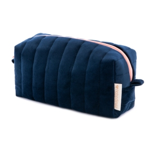 Savanna Velvet Vanity Case Night Blue van Nobodinoz