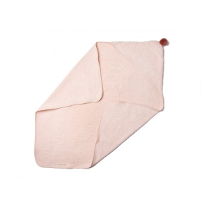 So Cute Baby Bath Cape Pink van Nobodinoz
