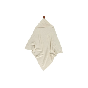 So Natural Knitted Baby Cape Natural van Nobodinoz