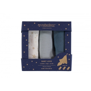 Swaddle Baby Love New Elements Pack Night Blue van Nobodinoz