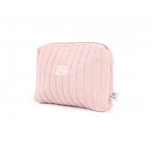 Travel Vanity Case New Elements White Bubble Misty Pink van Nobodinoz