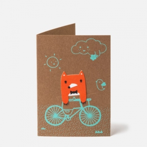 Bike Ride Bookmark Card van Noodoll