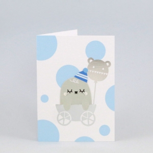 New born blue bookmark card van Noodoll