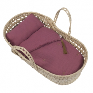 Doll Basket En Bed Linnen Baobab Rose van Numero 74