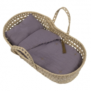 Doll Basket En Bed Linnen Dusty Lilac van Numero 74