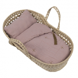Doll Basket En Bed Linnen Dusty Pink  van Numero 74