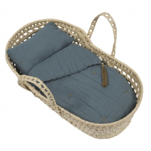 Doll Basket En Bed Linnen Ice Blue van Numero 74