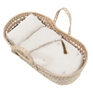 Doll Basket En Bed Linnen Naturel van Numero 74