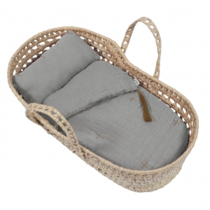 Doll Basket En Bed Linnen Silver Grey van Numero 74
